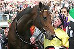 .Arc de Triomphe in Paris.  Sea of the Stars (Irl) wins the race. Jockey MJ Kinane, Owner : Christopher Tsui