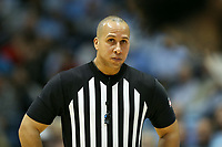 CHAPEL HILL, NC - FEBRUARY 1: Official Matt Potter during a game between Boston College and North Carolina at Dean E. Smith Center on February 1, 2020 in Chapel Hill, North Carolina.
