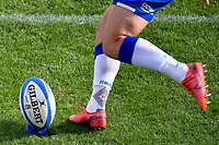 Paolo Garbisi of Italy kicks the ball during the warm up prior to the rugby Autumn Nations Cup's match between Italy and Scotland at Stadio Artemio Franchi on November 14, 2020 in Florence, Italy. Photo Andrea Staccioli / Insidefoto