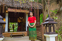 Thailand, Mae Hong Son. Women from Karen tribe trained to work at the Fern Resort.