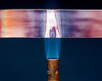 COPPER HEATED TO FORM COPPER II (CUPRIC) OXIDE<br /> 2 of 3: During Heating<br /> When copper metal is heated in the presence of oxygen it oxidizes to form black cupric oxide.