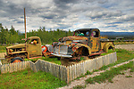 Old trucks from Canol Road in Norman Wells