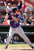May 31, 2009:  Outfielder Matt McBride of the Akron Aeros at bat during a game at Jerry Uht Park in Erie, NY.  The Aeros are the Eastern League Double-A affiliate of the Cleveland Indians.  Photo by:  Mike Janes/Four Seam Images