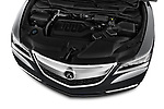 Car stock 2014-2016 Acura MDX Technology 5 Door SUV engine high angle detail view