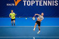 Amstelveen, Netherlands, 16  December, 2020, National Tennis Center, NTC, NK Indoor, National  Indoor Tennis Championships,  Doubles : Jesper de Jong (NED) (L) and <br /> Tim van Rijthoven (NED) <br /> Photo: Henk Koster/tennisimages.com