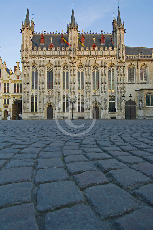 Belgium, Bruges, City Hall on the Burg, or Town Hall Square