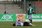 19.09.2020, Dietmar-Scholze-Stadion an der Lohmuehle, Luebeck, GER, 3. Liga, VfB Luebeck vs 1.FC Saarbruecken <br /> <br /> DFB REGULATIONS PROHIBIT ANY USE OF PHOTOGRAPHS AS IMAGE SEQUENCES AND/OR QUASI-VIDEO.<br /> <br /> im Bild / picture shows <br /> Verletzt/Verletzung/Schmerzen.Sebastian Jacob (1.FC Saarbruecken) liegt mit Schmerzen am Boden<br /> <br /> <br /> Foto © nordphoto / Tauchnitz