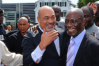 Desi Bouterse (Desiré Delano Bouterse) returns to De Nationale Assemblée (DNA) / The National Assemble of Suriname after visited his supporters.....Desi Bouterse (Desiré Delano Bouterse) chosen as new president of Suriname by De Nationale Assemblée (DNA) / The National Assemble of Suriname. He took 36 votes of 51 as leader of the Mega Combination. ....Robert_Ameerali the head of KKF (Kamer van Koophandel en Fabrieken) / Chamber of Commerce and Industry also selected as Vice President.....Desi Bouterse (Desiré Delano Bouterse) will sworn at 3 August 2010