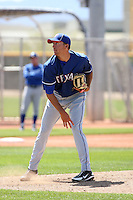 Mark Hamburger, Texas Rangers 2010 minor league spring training..Photo by:  Bill Mitchell/Four Seam Images.