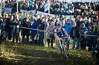 Sanne Cant (BEL/Enertherm-BKCP) coming down the Koppenberg<br /> <br /> Elite Women's race<br /> Koppenbergcross 2015