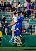 26 October 2019: University of Vermont Catamount Midfielder Jon Arnar Barðdal, a Senior from Garðabær, Iceland, in second half action against the University of Massachusetts Lowell River Hawks at Virtue Field in Burlington, Vermont. The Catamounts rallied to defeat the River Hawks 2-1, propelling the Cats to the America East Division 1 conference playoffs. Mandatory Credit: Ed Wolfstein Photo *** RAW (NEF) Image File Available ***