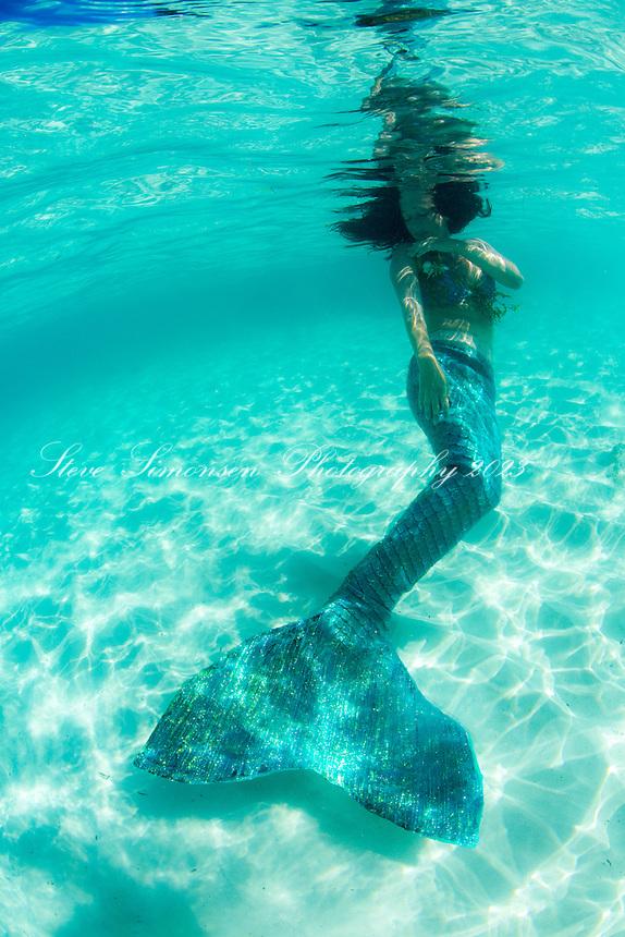 Mermaid Crystal underwater<br /> St. John<br /> US Virgin Islands