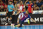 League LNFS 2018/2019.<br /> PlayOff Final. 1er. partido.<br /> FC Barcelona Lassa vs El Pozo Murcia: 7-2.<br /> Miguelin vs Leo Santana.