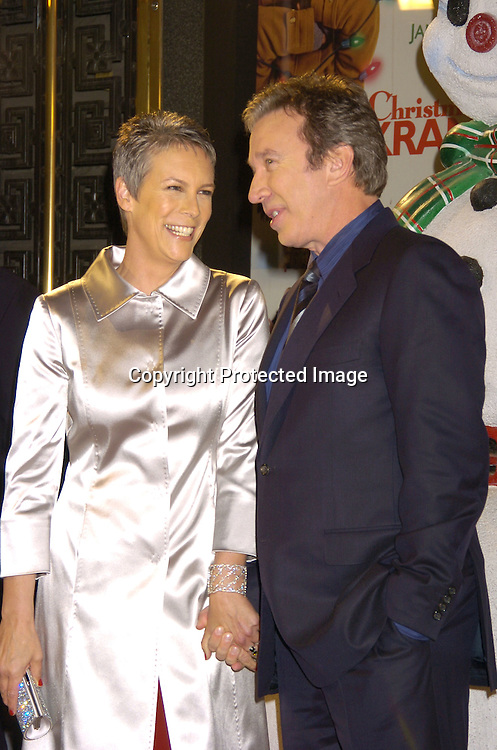"""Jamie Lee Curtis and Tim Allen ..at the World Premiere of """"Christmas with the Kranks"""" on ..November 15, 2004 at Radio City Music Hall...Photo by Robin Platzer, Twin Images"""