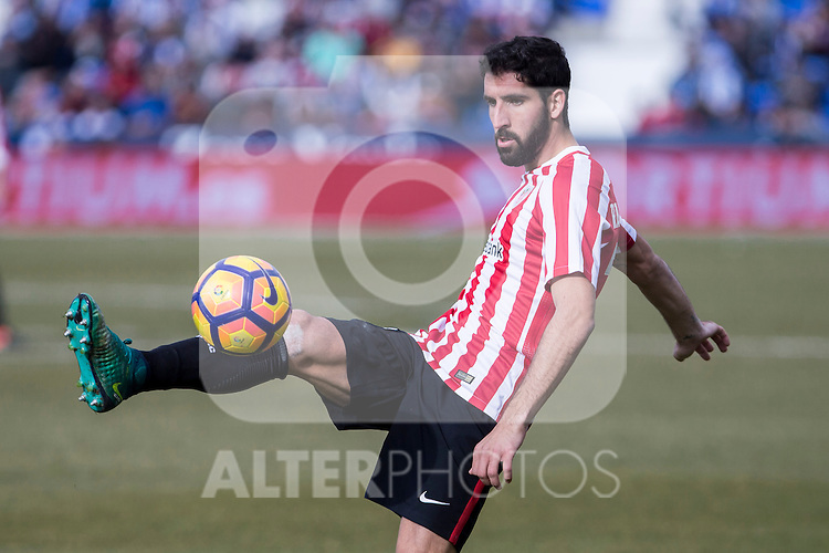 Atletic de Bilbao's Raul Garcia during the match of La Liga between Leganes and Athletic Club at Butarque Stadium  in Madrid , Spain. January  14, 2017. (ALTERPHOTOS/Rodrigo Jimenez)