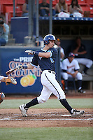 Daniel Gardner (22) of the University of San Diego Toreros bats against the Cal State Fullerton Titans at Goodwin Field on April 5, 2016 in Fullerton, California. Cal State Fullerton defeated University of San Diego, 4-2. (Larry Goren/Four Seam Images)