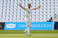 Lyndon James of Nottinghamshire claims the wicket of Ryan ten Doeschate during Nottinghamshire CCC vs Essex CCC, LV Insurance County Championship Group 1 Cricket at Trent Bridge on 9th May 2021