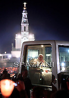 Pope Benedict XVI participates in the traditional candles procession at Fatima's Sanctuary, Portugal, 12 may 2010. Pope Benedict XVI is on a four days official visit to Portugal to attend the annual celebrations of the Our Lady 13 May 1917 apparition to the three little shepherds and the 10th year of their beatification.