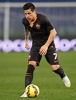 Calcio, Tim Cup: Roma vs Empoli. Ottavi di finale a gara unica. Roma, stadio Olimpico, 20 gennaio 2015.<br /> Roma's Juan Iturbe in action during the Italian Cup round of 16 football match between Roma and Empoli at Rome's Olympic stadium, 20 January 2015.<br /> UPDATE IMAGES PRESS/Riccardo De Luca