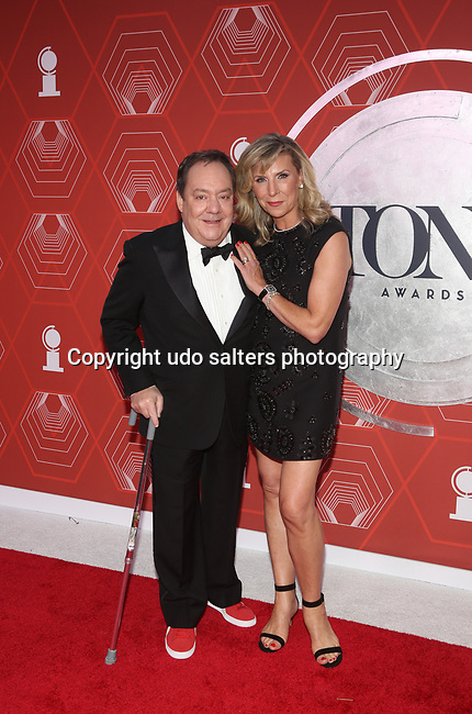 Jimmy Nederlander and Margo Nederlander  attend the 74th Tony Awards-Broadway's Back! arrivals at the Winter Garden Theatre in New York, NY, on September 26, 2021. (Photo by Udo Salters/Sipa USA)