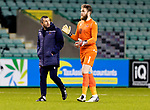 Hibs v St Johnstone…24.11.20   Easter Road      SPFL<br />Manager Callum Davidson and keeper Zander Clark<br />Picture by Graeme Hart.<br />Copyright Perthshire Picture Agency<br />Tel: 01738 623350  Mobile: 07990 594431