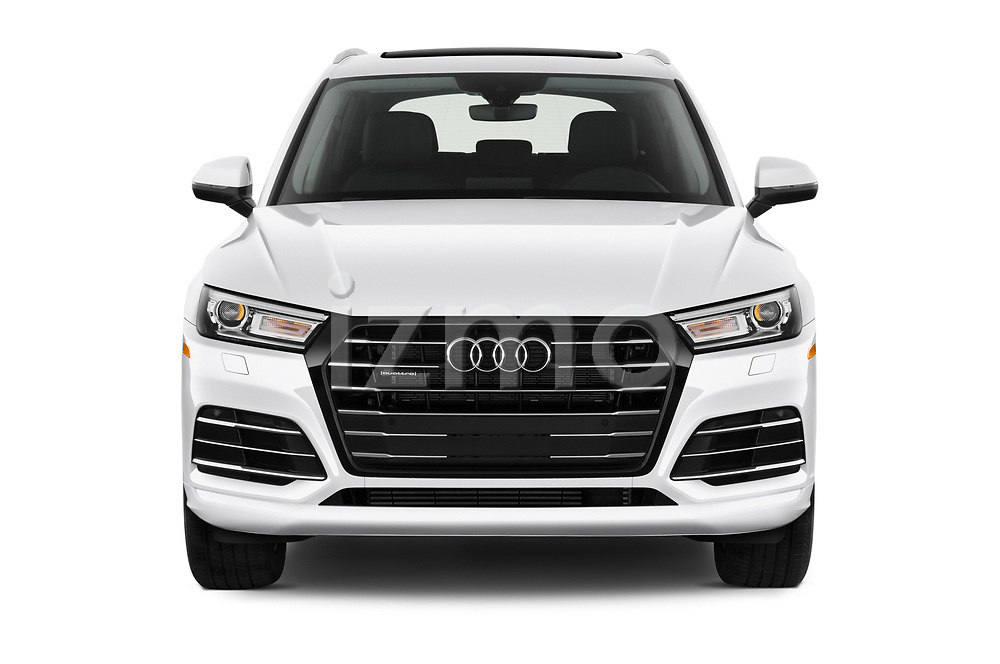Car photography straight front view of a 2020 Audi Q5 Premium 5 Door SUV
