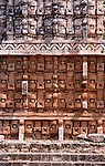 Masks of the god chaac, Kabah, Mexico, Central America