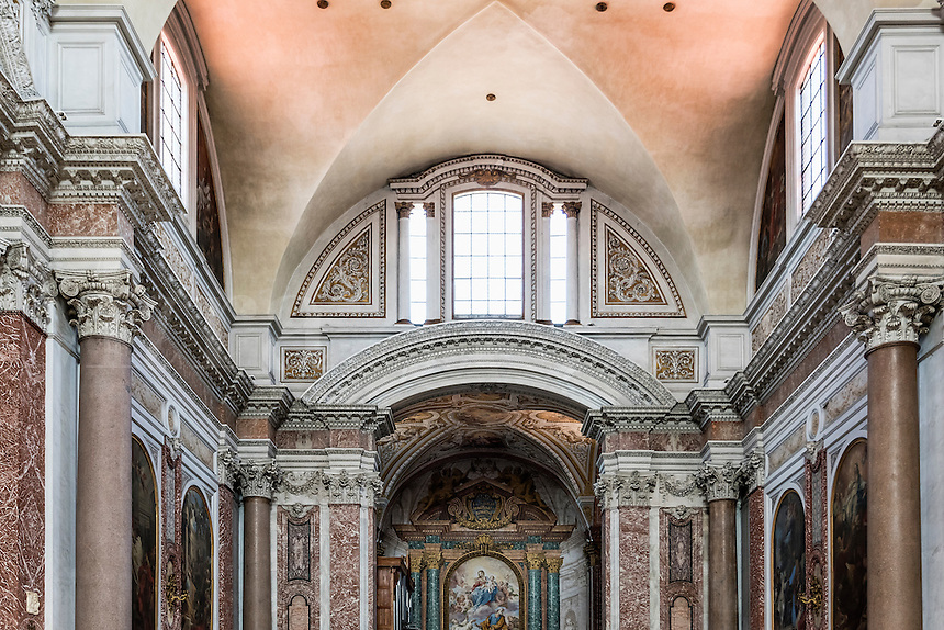 Transept detail, Basilica of St. Mary of the Angels and the Martyrs, Rome, Italy