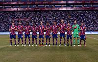 SAN PEDRO SULA, HONDURAS - SEPTEMBER 8: The USMNT stands for the national anthem before a game between Honduras and USMNT at Estadio Olímpico Metropolitano on September 8, 2021 in San Pedro Sula, Honduras.