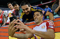 Harrison, NJ - Thursday Sept. 15, 2016: Gonzalo Veron after a CONCACAF Champions League match between the New York Red Bulls and Alianza FC at Red Bull Arena.