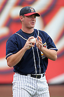 Pitcher Chad Durbin of the Toledo Mudhens during warmups before the Triple-A All-Star Game at Fifth Third Field on July 12, 2006 in Toledo, Ohio.  (Mike Janes/Four Seam Images)