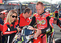 Shane Byrne of Be Wiser Ducati Racing Team on the grid before race two of the MCE British Superbikes in Association with Pirelli round 12 2017 - BRANDS HATCH (GP) at Brands Hatch, Longfield, England on 15 October 2017. Photo by Alan  Stanford / PRiME Media Images.