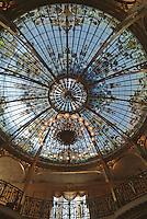 Europe/Monaco/Monte Carlo: Jardin d'hiver de l'hermitage - Détail déco - Pour la verrière du jardin, on a fait appel à Gustave Eiffel