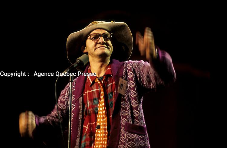 Michel Barette at the 1986 Festival Juste Pour Rire.<br /> photo (c)  Images Distribution