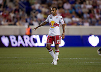 Thierry Henry (14) of the New York Red Bulls tries to direct traffic during the Barclays New York Challenge at Red Bull Arena in Harrison, NY.  Tottenham defeated the New York Red Bulls, 2-1.