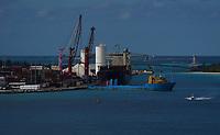 Hafen von Nassau, Bahamas - 26.01.2020: Nassau