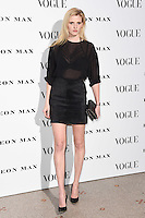 Lara Stone<br /> at the Vogue 100: A Century of Style exhibition opening held in the National Portrait Gallery, London.<br /> <br /> <br /> ©Ash Knotek  D3080 09/02/2016