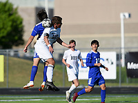 NWA Democrat-Gazette/CHARLIE KAIJO during a soccer game, Friday, April 26, 2019 at  Whitey Smith Stadium at Rogers High School in Rogers.