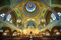 Interior of The Szeged Synagogue, Eclectic Style. Hungary