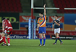 Referee Dudley Phillips<br /> Celtic League<br /> Scarlets v Munster<br /> <br /> 01.03.14<br /> <br /> ©Steve Pope-SPORTINGWALES