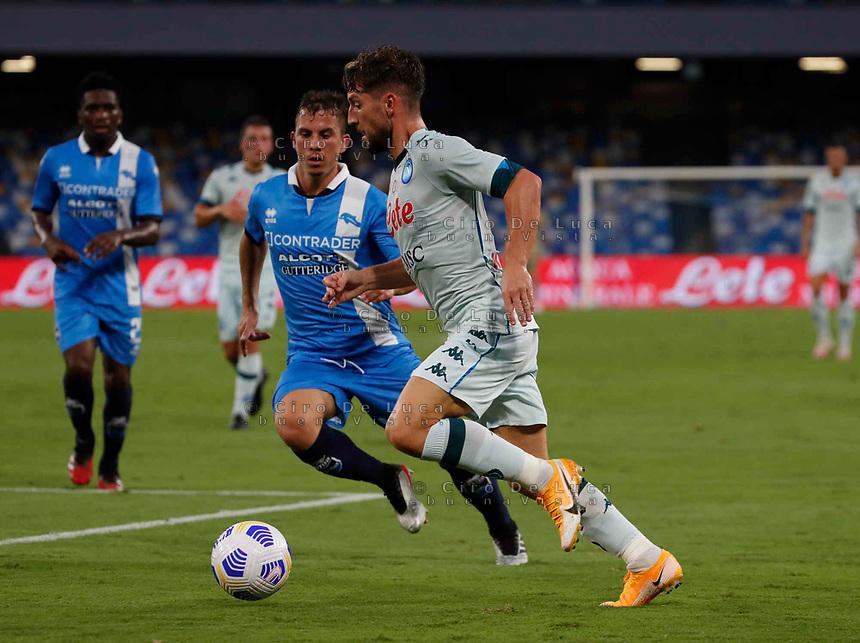 Dries Mertens during a friendly match Napoli - Pescara  at Stadio San Paoli in Naples
