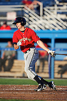 State College Spikes outfielder Walker Gourley #5 during a game against the Batavia Muckdogs at Dwyer Stadium on August 7, 2012 in Batavia, New York.  State College defeated Batavia 4-2.  (Mike Janes/Four Seam Images)