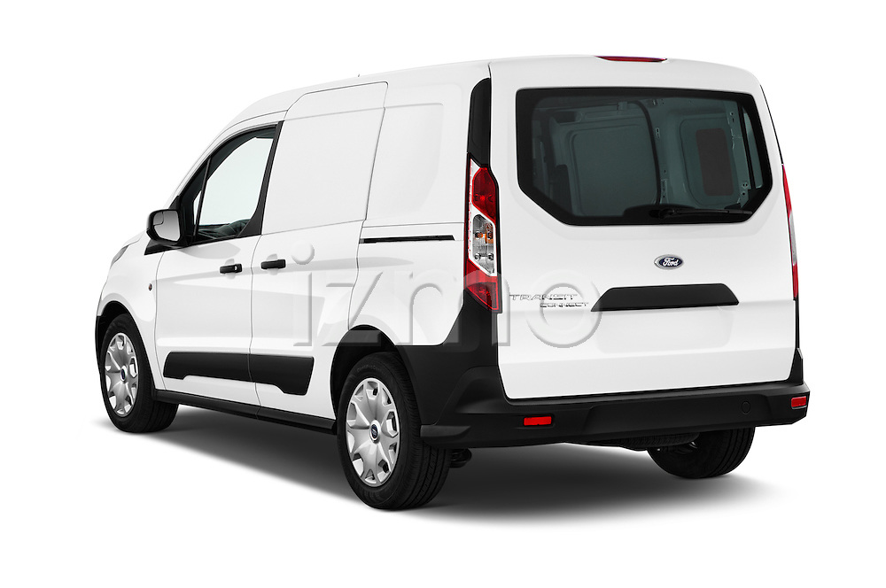 Car pictures of rear three quarter view of 2018 Ford Transit-Connect Van-XL-SWB-(Rear-Liftgate) 5 Door Mini MPV Angular Rear