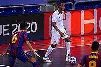9th October 2020; Palau Blaugrana, Barcelona, Catalonia, Spain; UEFA Futsal Champions League Finals; FC Barcelona versus MFK KPRF;  Nando looks for a passing outlook