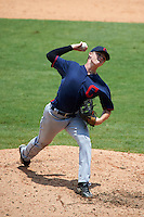 Pitcher Owen Griffith (23) of South Aiken High School in Aiken, South Carolina playing for the Cleveland Indians scout team during the East Coast Pro Showcase on July 30, 2015 at George M. Steinbrenner Field in Tampa, Florida.  (Mike Janes/Four Seam Images)