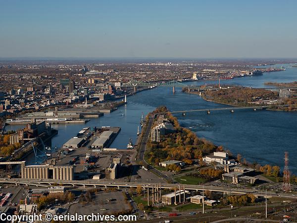 aerial photograph of Cite du Havre, Montreal, Quebec, Canada   photographie aérienne de la Cité du Havre, Montréal, Québec, Canada