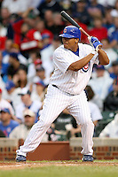 August 18, 2007: Daryl Ward of the Chicago Cubs at bat against the St. Louis Cardinals at Wrigley Field in Chicago, IL.  Photo by:  Chris Proctor/Four Seam Images