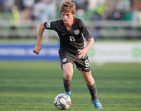 Alex Shinsky dribbles the ball. US Men's National Team Under 17 defeated Malawi 1-0 in the second game of the FIFA 2009 Under-17 World Cup at Sani Abacha Stadium in Kano, Nigeria on October 29, 2009.