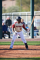 Brent Williams (12) of Hammond High Magnet School in Hammond, Louisiana during the Baseball Factory All-America Pre-Season Tournament, powered by Under Armour, on January 13, 2018 at Sloan Park Complex in Mesa, Arizona.  (Zachary Lucy/Four Seam Images)
