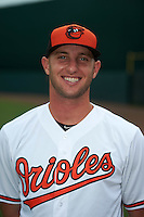 GCL Orioles pitcher Kory Groves (36) poses for a photo after the second game of a doubleheader against the GCL Rays on August 1, 2015 at the Ed Smith Stadium in Sarasota, Florida.  GCL Orioles defeated the GCL Rays 11-4.  (Mike Janes/Four Seam Images)